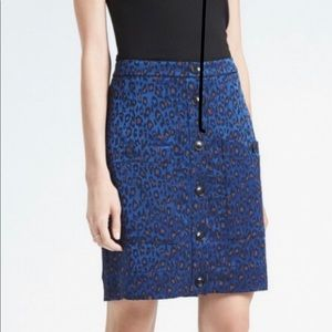 Banana Republic Button Up Leopard Print Skirt 🐆